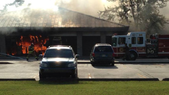 Hammond Firefighters Respond To Burning School Office