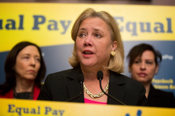 WASHINGTON, DC - APRIL 1:  U.S. Sen. Mary Landrieu (D-LA) speaks during a press conference to urge Congress to pass the Paycheck Fairness Act, on Capitol Hill April 1, 2014 in Washington, DC. The act would ensure equal payment for equal work for both women and men.  (Photo by Allison Shelley/Getty Images)