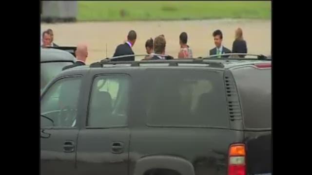 President Obama arrives in N.O.