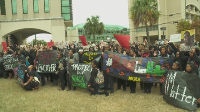 Xavier Protest