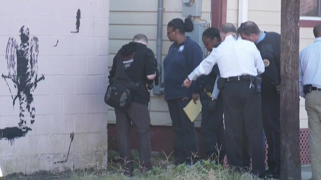 The scene in the 3300 block of Danneel Street, where