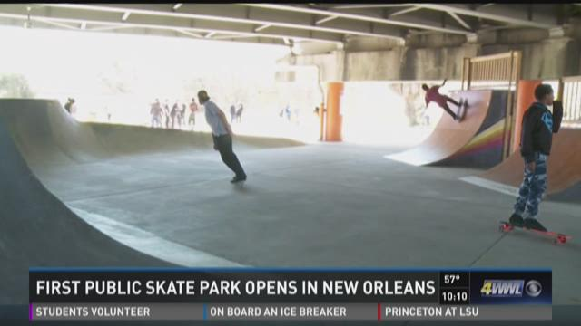 First Public Skate Park Opens in New Orleans