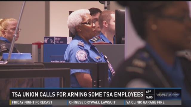 TSA union wants to arm employees