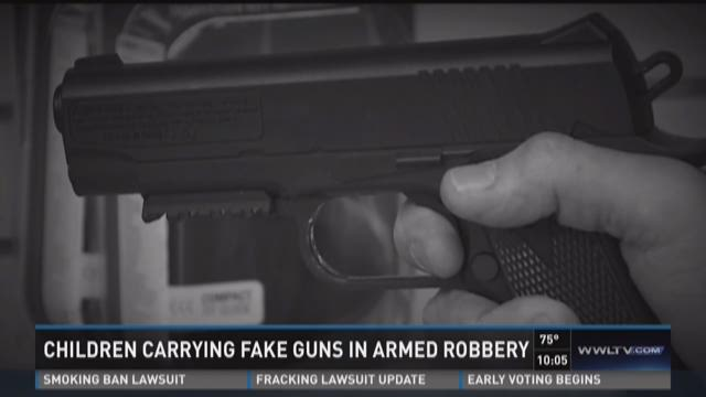 Juveniles using BB guns in robberies