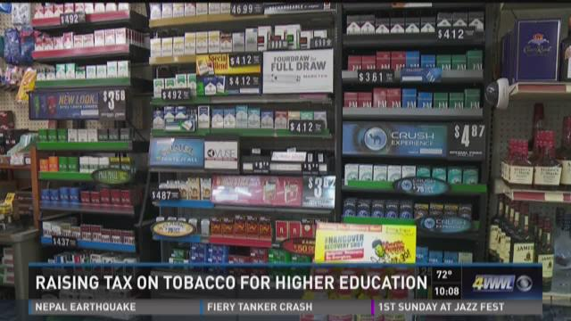 Raising tax on tobacco for higher education