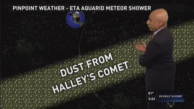 Meteor shower to be viewable locally