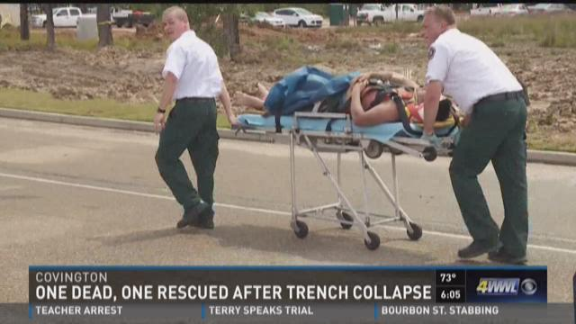 The man who was rescued was taken to a hospital in