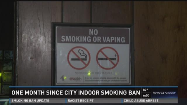 One month since city smoking ban