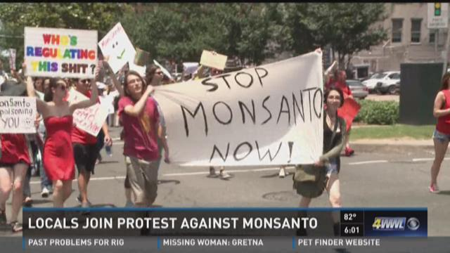 Locals join protest against Monsanto