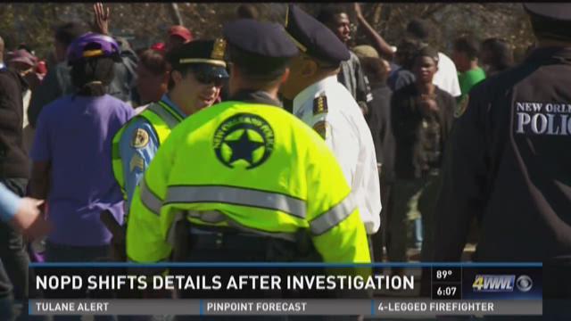NOPD shifts details after investigation