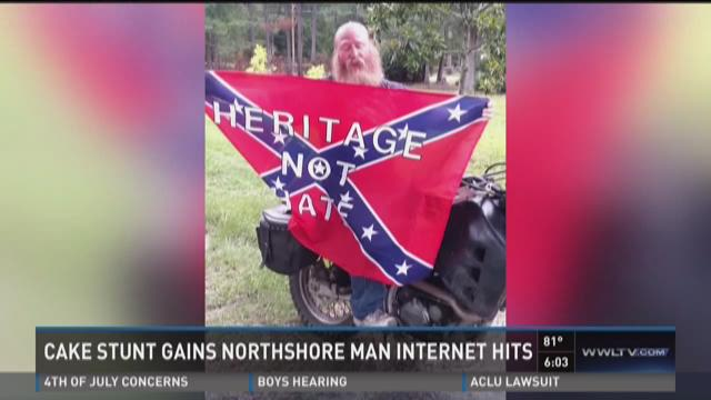 Northshore man creates viral video with Confederate flag/ISIS cake controversy
