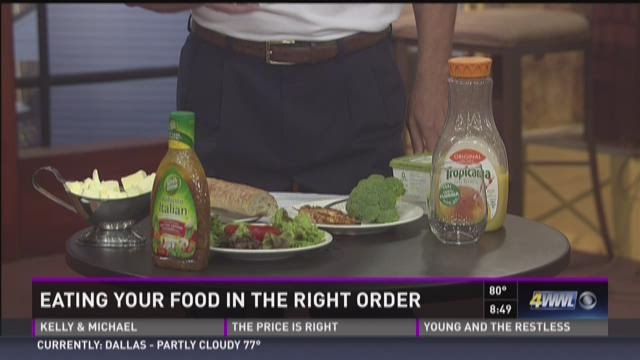 Mackie: Eating your food in the right order