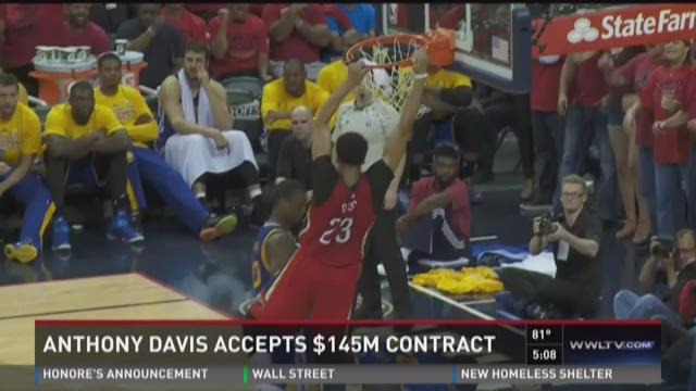 Fans excited as Anthony Davis accepts $145 million contract