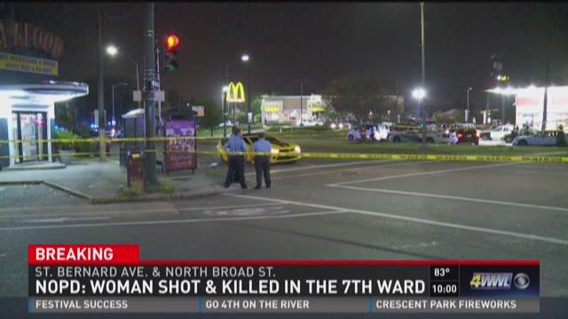 Woman shot and killed in 7th Ward
