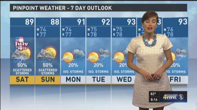 Alexandra Cranford has the forecast for Saturday, July 4.