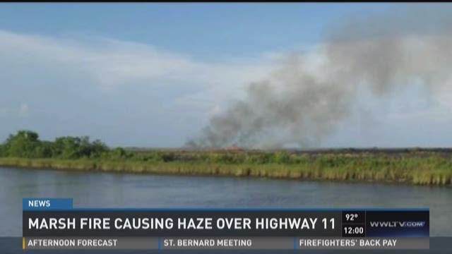Marsh fire in N.O. East