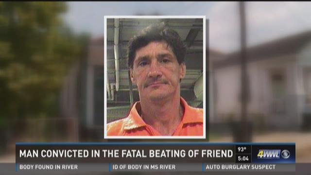 Man convicted in fatal beating of friend