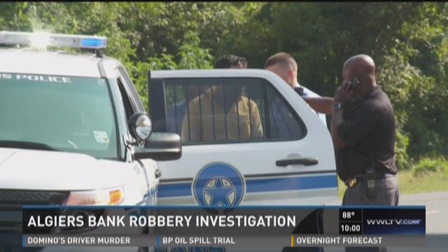 Algiers bank robbery investigation
