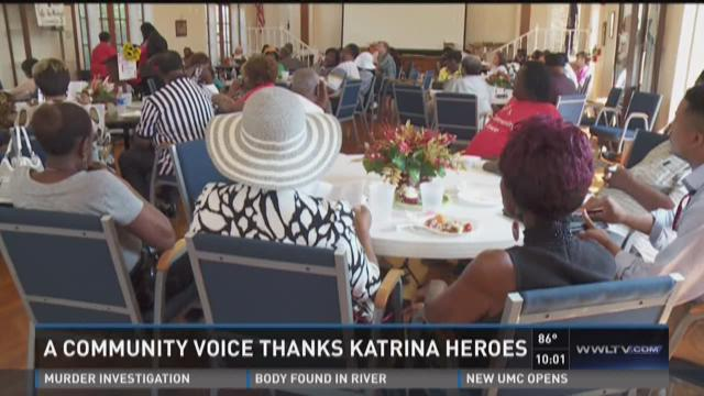 Katrina heroes honored