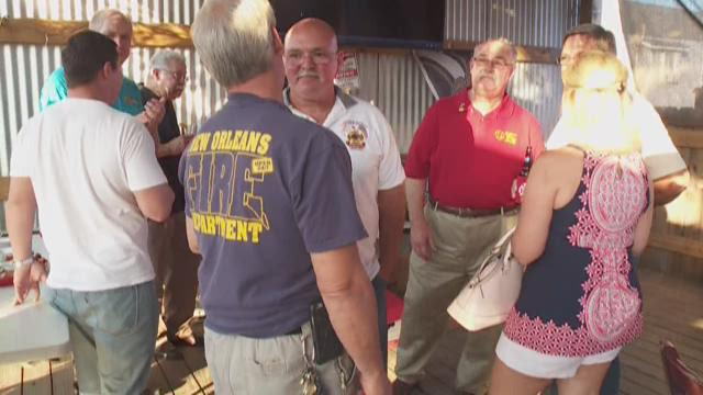 Firefighters mark Katrina anniversary during intimate Mid-City reunion