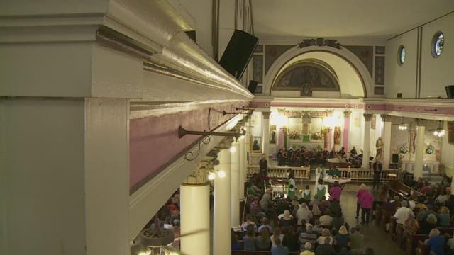 Money donated to help fix St. Augustine Church