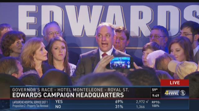John Bel Edwards elected governor of Louisiana